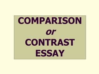 Thesis statement in a compare and contrast essay